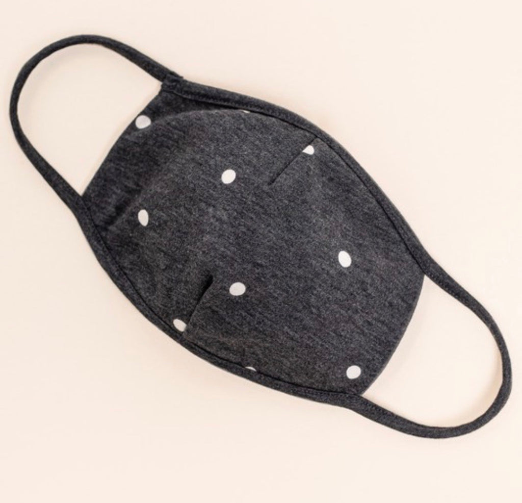 Diane Charcoal Polka Dot Mask