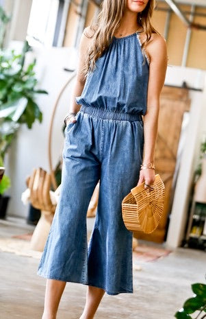 Cherise Denim Jumpsuit