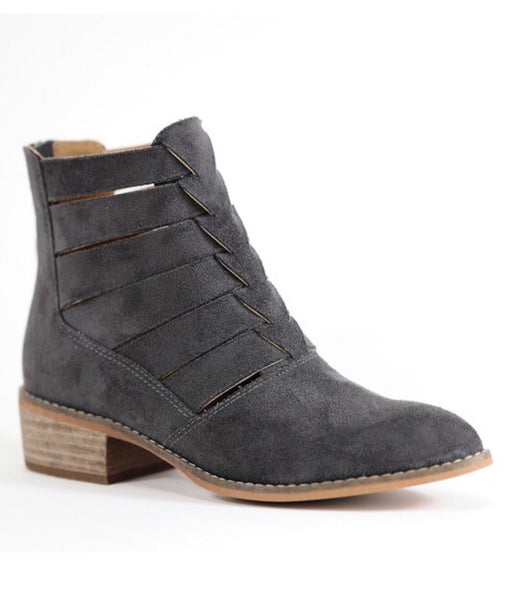 Chloe Suede Charcoal Boot