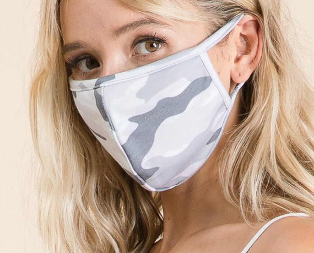 Diane Grey Camo Mask