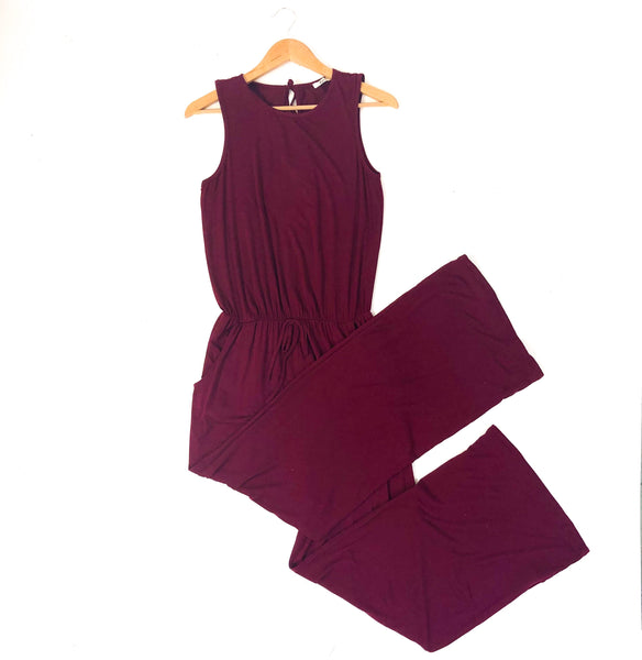 Dana Burgundy Jumpsuit