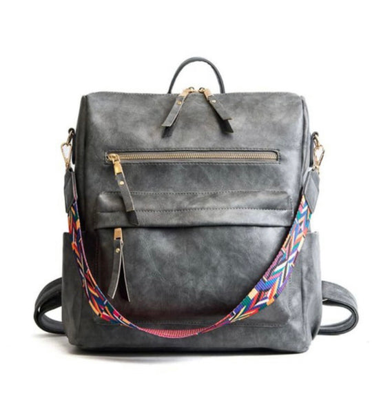 Marta Grey Backpack Purse