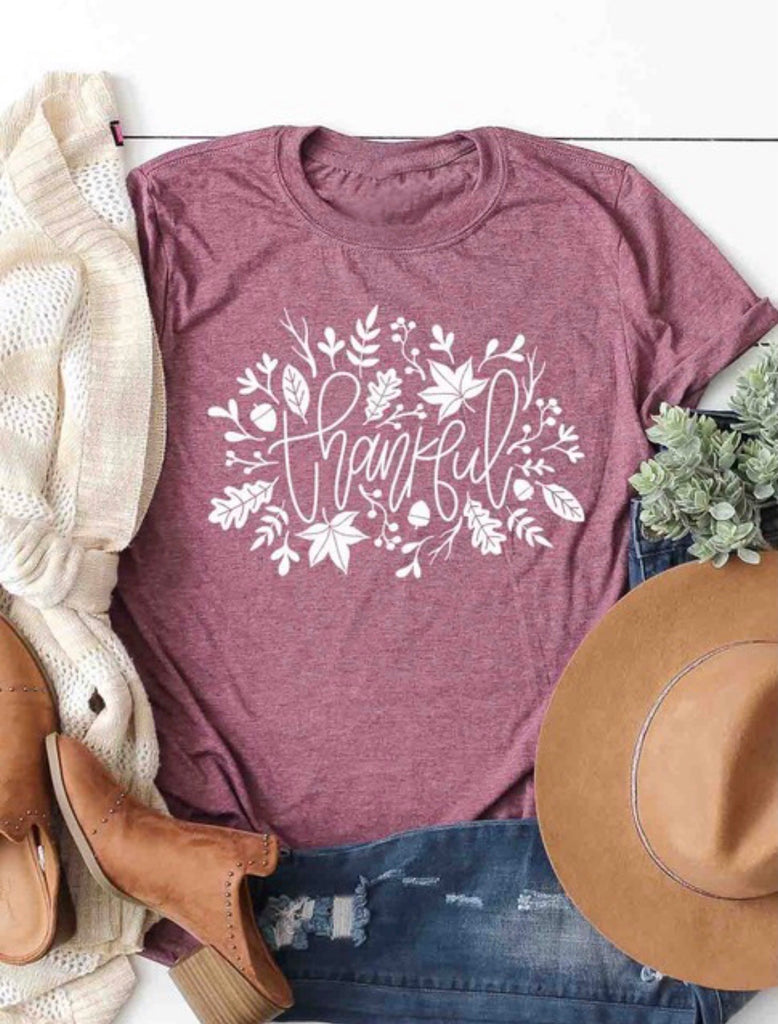 Aurora Plum Thankful Tee