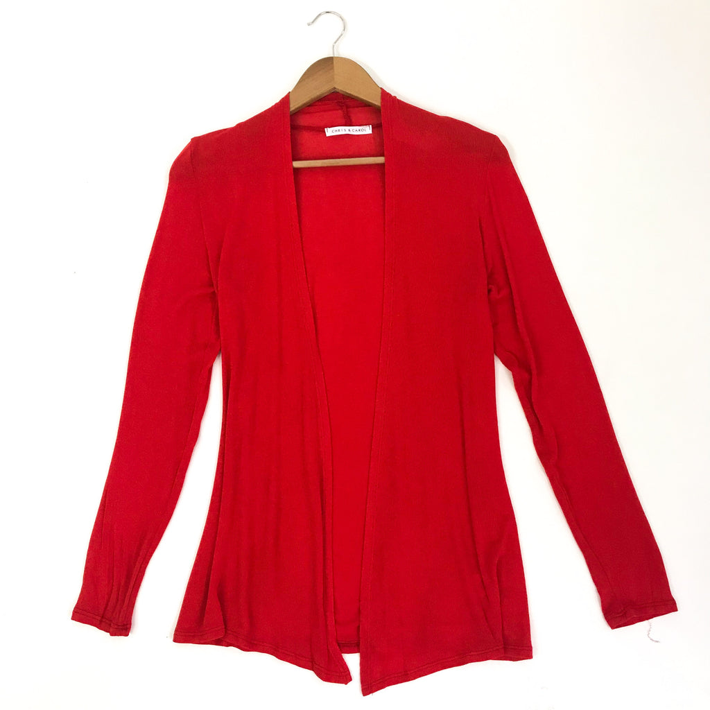 Red Lightweight Cardigan