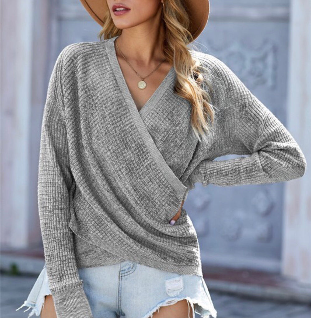 Ember Grey Textured Sweater
