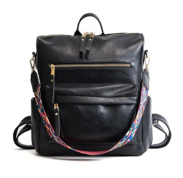 Marta Black Backpack Purse
