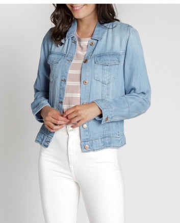 Addison Light Washed Denim Jacket