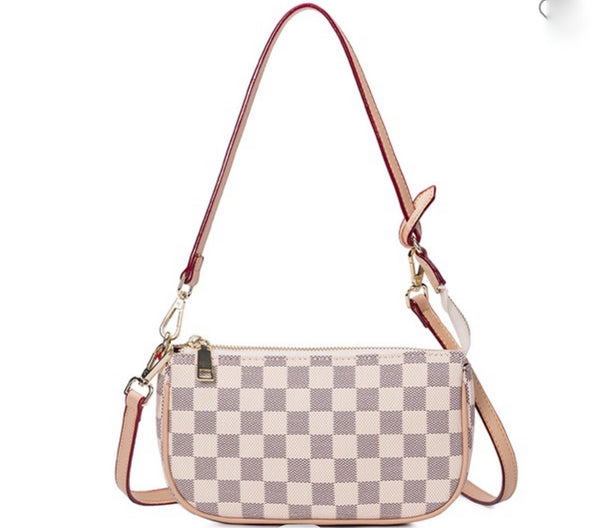 Kiara Bone Check Purse