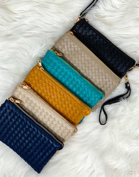 Mia Weaved Clutch/Purse With Body Strap