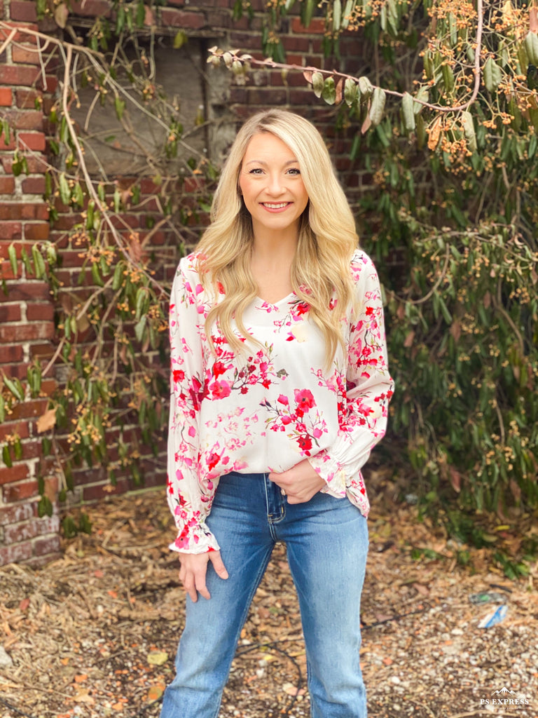 Kinsley Ivory Floral Blouse