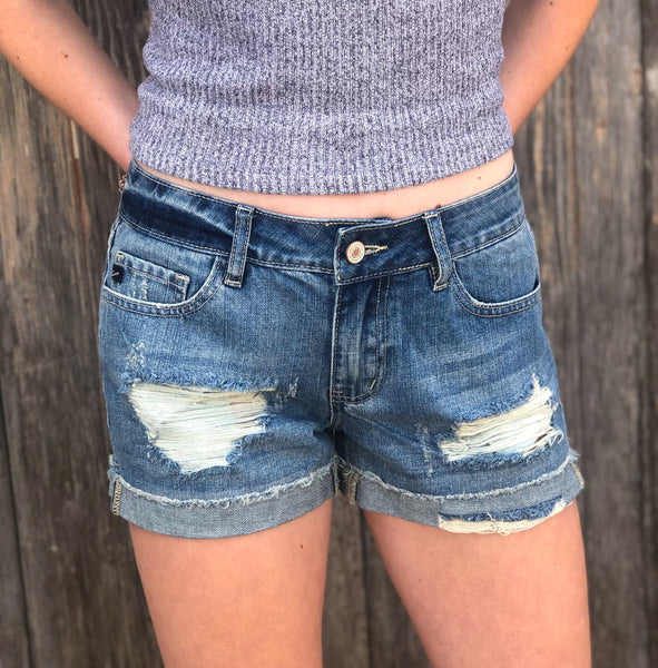 Cindy Kan Can Distressed Short