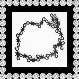 BARBED WIRE NECKLACE/CHOKER