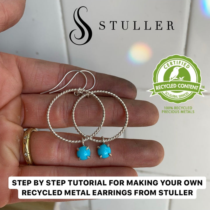 STEP BY STEP TUTORIAL FOR MAKING YOUR OWN RECYCLED METAL EARRINGS FROM STULLER