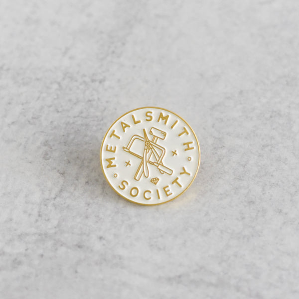WHITE SOCIETY PIN