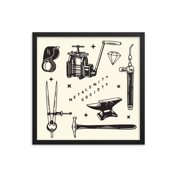 SQUARE FRAMED SOCIETY FLASH SHEET PRINT