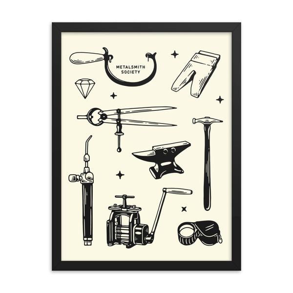 FRAMED SOCIETY FLASH SHEET PRINT