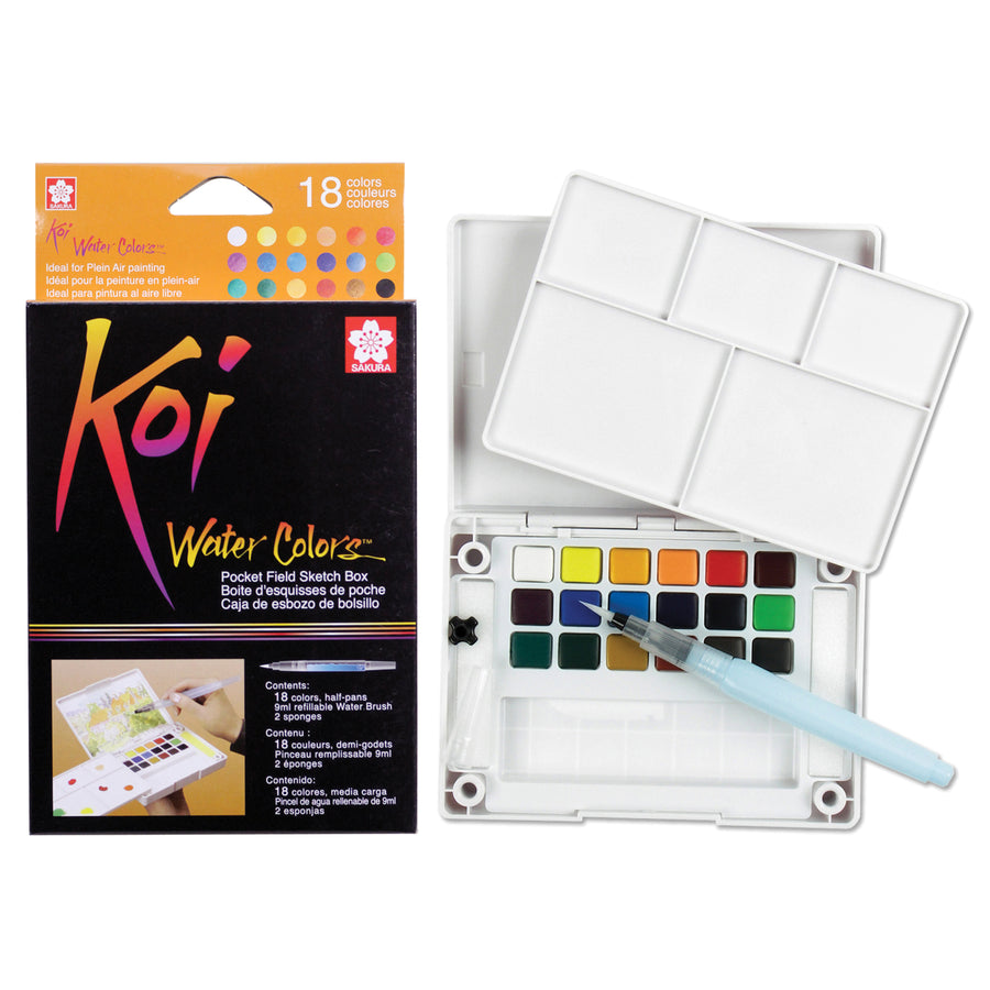 Sakura Koi Watercolor Pocket Field Sketch Box - 12 colors