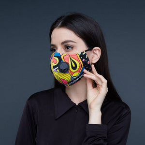 2madison Retro Pop Facemask With Air Valve