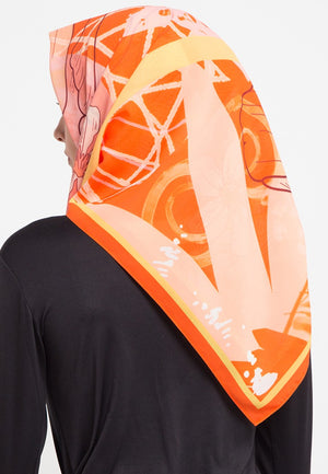 Secret Orbital Orange Scarf