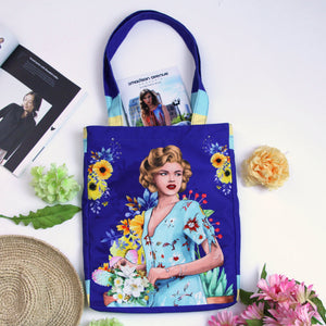 Medium Tote Bag With Marilyn Blues