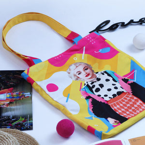 Medium Tote Bag With Marilyn Pop