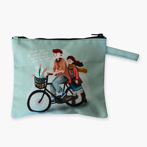Love Biking Flat Pouch