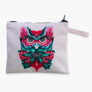 Pink Owl Flat Pouch