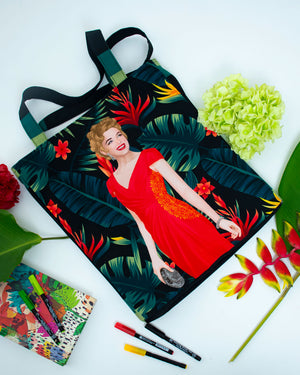 Marilyn In Red Tote Bag