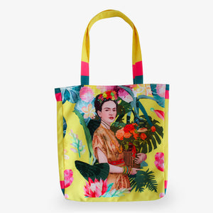 Spring Frida Yellow Tote Bag