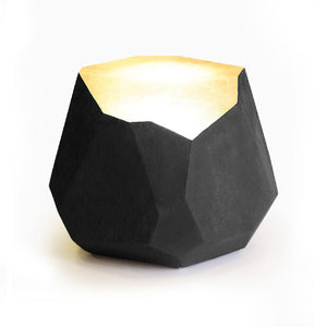 Facet Stool Lamp Concrete