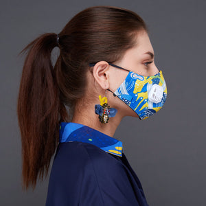 Liga in Yellow Facemask With Air Valve