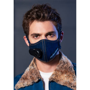 2Madison Denim Facemask with Smart Fan and Air Filter