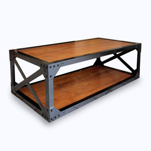 Retro coffee table with iron leg #1