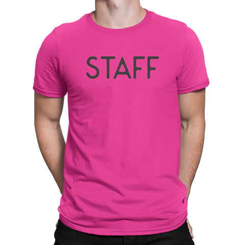 381f17a0 Staff Mens Neon Pink T-Shirt Style 2 – STAFF TEES