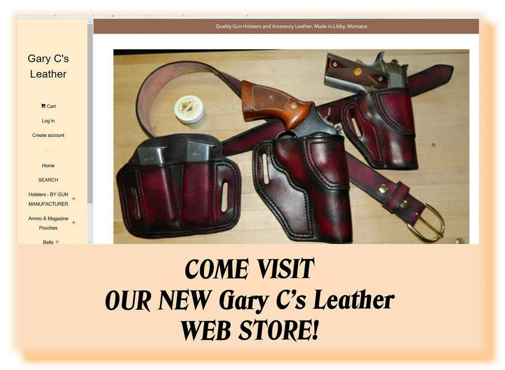 NEW Gary C's Leather STORE is OPEN! - adding new items daily.