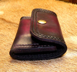 "Leather Speed Strip Pouch for 410 shells, 2-1/2"". Uses ONE 44/45 cal six cartridge Bianchi style strip. Belt, bag, pocket carry. Dark Cherry 44-015"