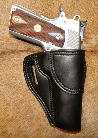 "Gary C's Avenger Right Hand Holster for Colt 1911 Government 5"" & Similar 1911s, Black Leather. G-072"