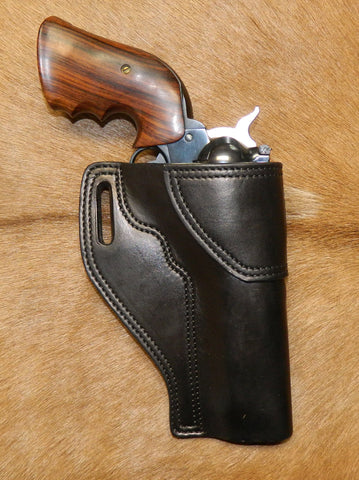 "Gary C's Avenger Right Hand Holster for Ruger NM Blackhawk 5-1/2"" Revolver.  Black Leather W-088"