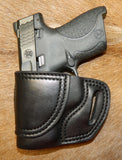 Gary C's Avenger Left Hand Holster for Smith & Wesson M&P Shield 9/40, Black. M-049