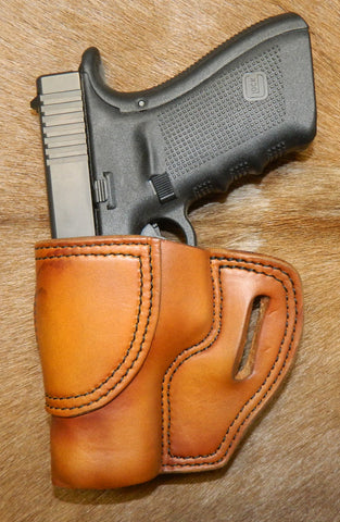Gary C's Avenger Left Hand Holster for Glock G20/G21, Antiqued Golden Brown. U-013