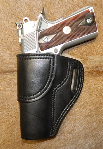 "Gary C's Avenger Left Hand Holster for Colt 1911 Government 5"" & Similar 1911s, Black Leather. G-061"