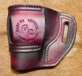 Gary C's Avenger Right Hand Holster for Sig Sauer P239.  Dark Cherry Leather ST-020