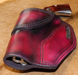 "Gary C's Avenger Left hand Holster for Ruger NM Vaquero 3-3/4"" Revolver.  Dark Cherry Leather Q-051"