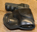 Gary C's Avenger Right Hand Holster for Sig Sauer P229. Black Leather. SS-012