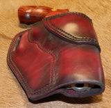 "Gary C's Avenger Right Hand Holster for S & W L Frame 4"" Revolver, Dark Cherry Leather  L-014"