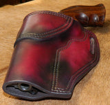 "Gary C's Avenger Left hand Holster for Ruger NM Blackhawk 4-5/8"" Revolver.  Dark Cherry Leather W-082"