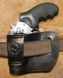 "Gary C's Avenger Right Hand Holster for Ruger SP101 2.25"". Black Leather. RR-067"