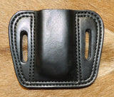 Leather Single Magazine Pouch for 45 cal /10mm Double Stack Mags, fits EAA Tanfoglio and M&P 45cal mags, Black 4-009