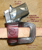 Gary C's Avenger Right Hand Holster for Sig Sauer P938 / P238. Dark Cherry Leather. S-062