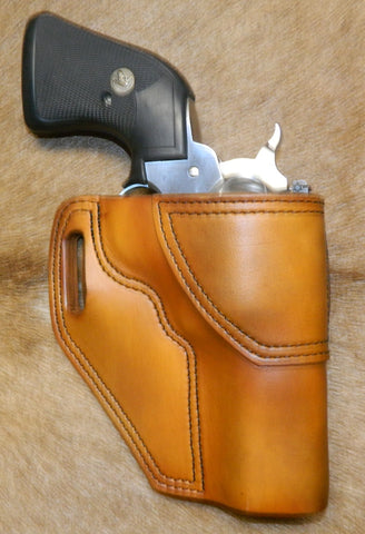 "Gary C's Avenger Right hand Holster for Ruger NM Blackhawk 3-3/4"" Revolver.  Antiqued Golden Brown Leather W-094"